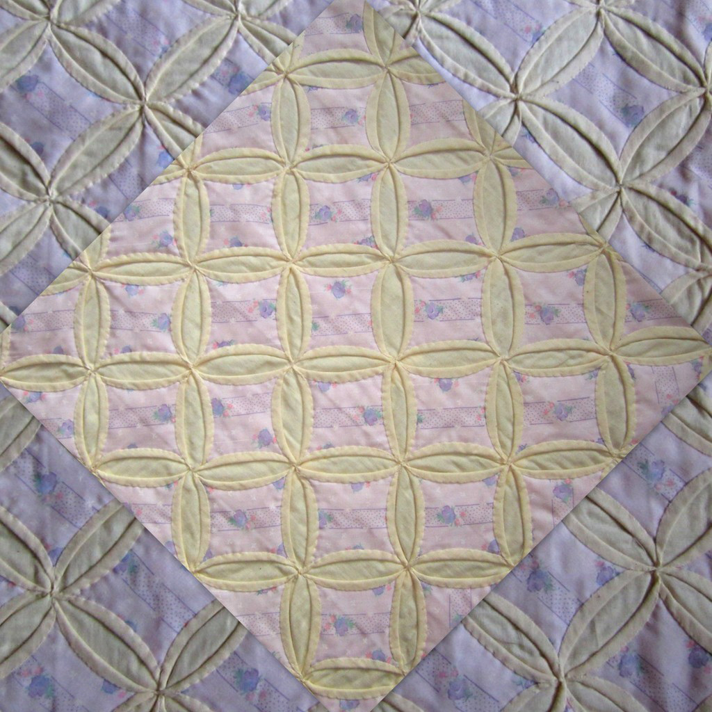 Antique quilt cathedral window hand made early 1900 s for Window quilts