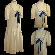 Laura Ashley Sailor Dress, Vintage Edwardian Revival