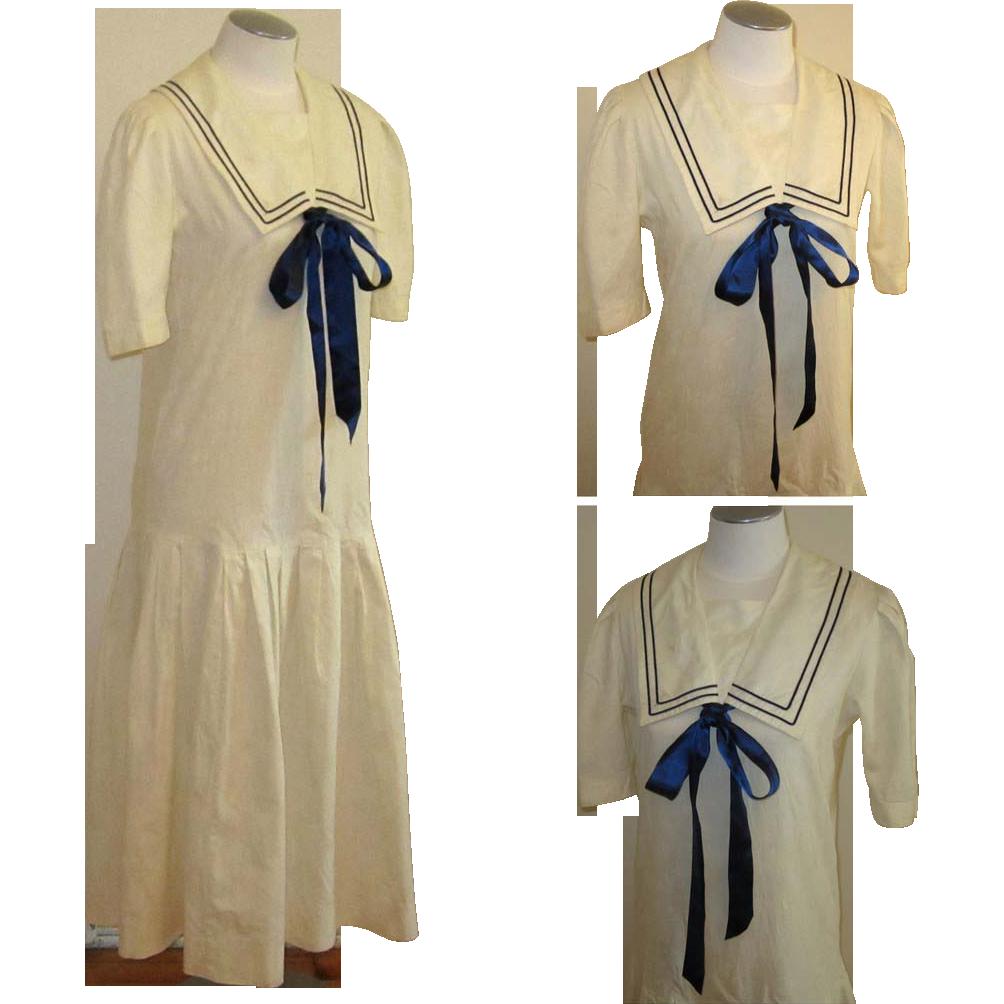 Laura Ashley Sailor Dress, Vintage Edwardian Revival from ...