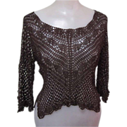 Vintage Lace Top, Shiny & Super Cute