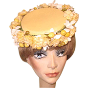 Vintage Easter Hat, Marshall Fields, Fruit & Flowers