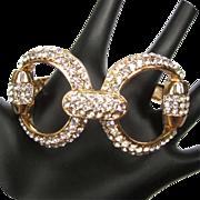 Rhinestone Clamper Bracelet, Vintage