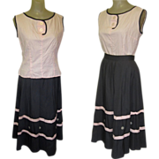 50's Skirt & Blouse, Jitterbug Heaven, Cotton & Full Skirt
