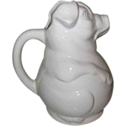 Vintage Pig Water Pitcher, USA Pottery