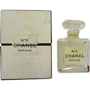 Vintage Chanel Perfume Bottle & Box 50's 60's, Chanel No. 5