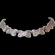 Sterling & Marcasite Necklace, Exquisite Bows! Vintage 20's