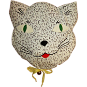 Cat Pillow, Vintage 40's Embroidered - Red Tag Sale Item