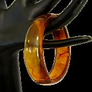 Bakelite Bracelet, Clamper, Hinged Tortoise