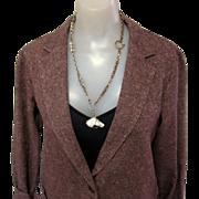 Vintage Wool Jacket, Tweed Classic, 80's