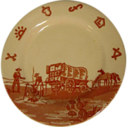 Wallace China Chuck Wagon Desert Plate, Restaurant Ware