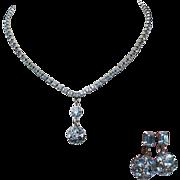 Rhinestone Demi, Necklace & Drop Earrings Crystal Disco Ball