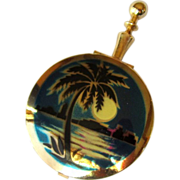 Tropical Pill Box, Moon Over Miami, Vintage Purse Size