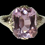 14K Gold Amethyst Ring, Art Nouveau, Vintage