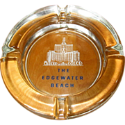 Edgewater Beach Hotel Vintage Ash Tray, Glass