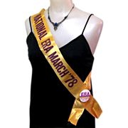 ERA Sash & Button, 1978 March on Washington