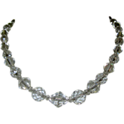 Deco Crystal Bead Necklace,  Faceted Beauty