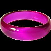 Lucite Bracelet, Vintage Transparent Lavender