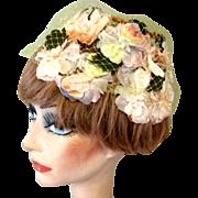 50's Floral Hat, Easter Parade Vintage