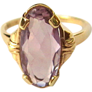Deco Amethyst Ring, 10K 1930's