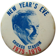 Frank Sinatra Button , Chicago Stadium, NYE Concert, 1975-76