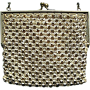 Art Deco Rhinestone Purse, Vintage Party Handbag