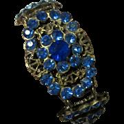 Czech Glass Filigree Bracelet, Art Nouveau