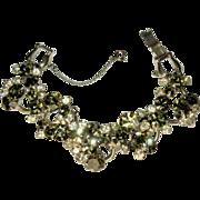 Juliana Rhinestone Bracelet, 5 Link Clear & Green