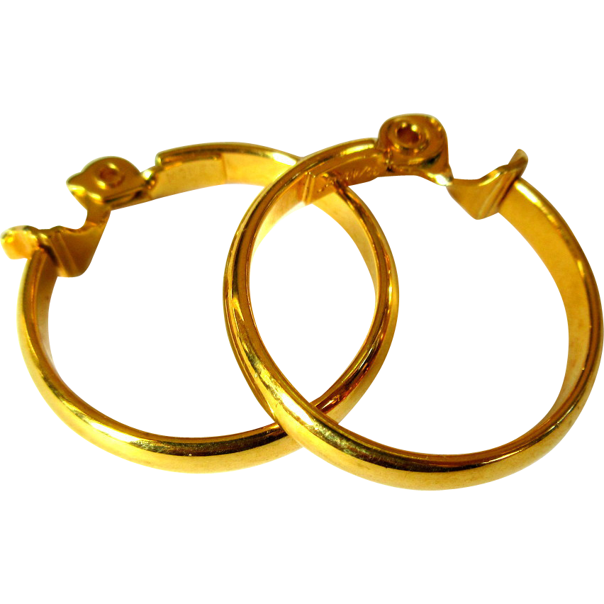 Gold hoop earrings vintage monet from lakegirlvintage on for Best place to sell gold jewelry in chicago
