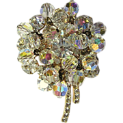 Crystal / Rhinestone Brooch, Juliana Floral