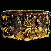 Whiting & Davis Bracelet, Wide Hinged