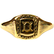 Antique Ring, Rolled Gold Signet