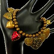 Vintage Hearts Charm Bracelet, Pididdly Links