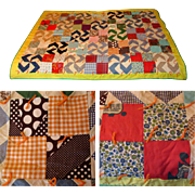 Vintage Quilt, 1930's or 40's, Patriotic  Material