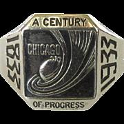 Chicago World's Fair Ring, Sterling, 1933