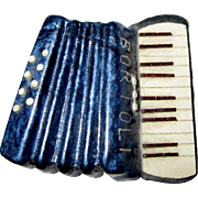 Bortoli Accordion Pin, Vintage Celluloid Musical