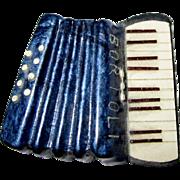 Bortoli Accordion Pin, Vintage Celluloid Musical