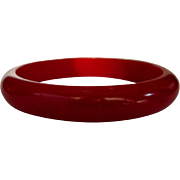 Vintage Bakelite Bracelet, Red Bangle