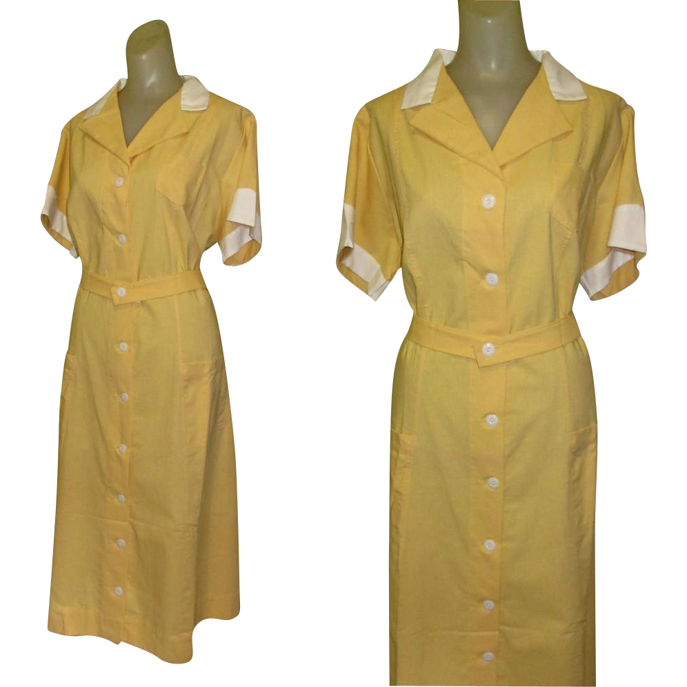 Vintage Waitress Uniform, Angelica, Large, 1950's from ...