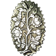 Victorian Sterling Brooch, Aesthetic Movement Pin