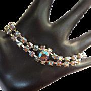 Vintage Rhinestone Bracelet, 50's Link