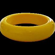 Creamed Corn Bakelite Bangle Bracelet
