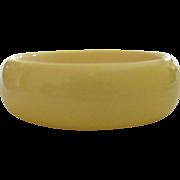 Bakelite Bangle Bracelet, Creamed Corn