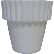 Milk Glass Flower Pot, Vintage Mini, Fenton