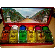 Vintage Perfume Set, Louis D'or, Famous Six Perfumes, 1955 Unused