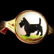 Essex Crystal Dog Ring, Intaglio Scottie