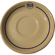 Vintage RCA Restaurant China, Saucer, Scammell