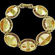 New York Bracelet, Vintage Souvenir Enamel Link, 1960's