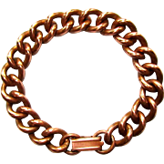 Vintage Copper Bracelet, Heavy Chain Link