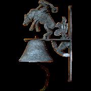 Vintage Western Bell, Cowboy Bucking Bronco