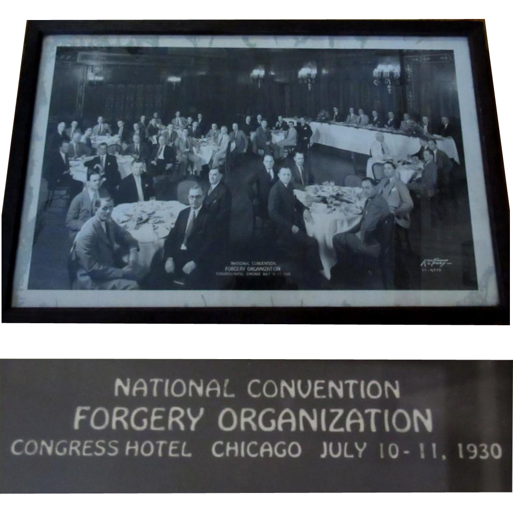 Congress Hotel Forgery Convention Photograph, Chicago 1930